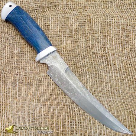 Нож Гюрза. Рукоять - карельская берёза, алюминий. Сталь ZDI-1016