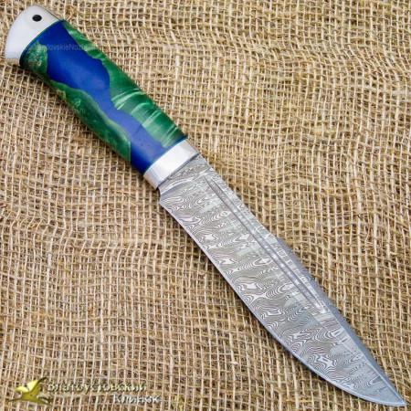 Нож Хищник. Рукоять - комбинированная, люкс. Сталь ZDI-1016