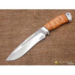 Нож Кондор. Рукоять - береста, алюминий