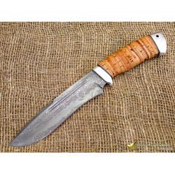 Нож Кондор. Рукоять - береста, алюминий. Сталь ZDI-1016
