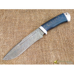 Нож Кондор. Рукоять - карельская берёза, алюминий. Сталь ZDI-1016