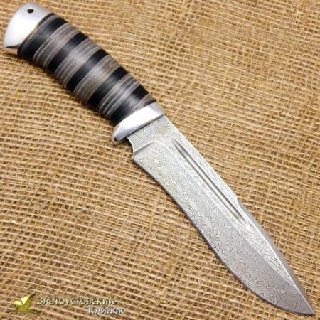Нож Кондор. Рукоять - кожа, алюминий. Сталь ZDI-1016