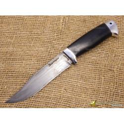 Нож булатный Койот. Рукоять - граб, алюминий