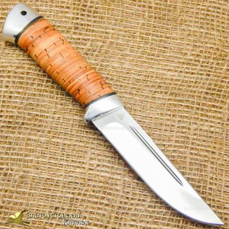 Нож Куница-2. Рукоять - береста, алюминий