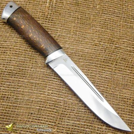 Нож Куница. Рукоять - бук, алюминий