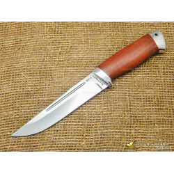 Нож Куница. Рукоять - стабилизированный орех, алюминий
