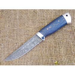 Нож Куница-2. Рукоять - карельская берёза, алюминий. Сталь ZDI-1016