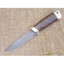 Нож Куница-2. Рукоять - орех, алюминий. Сталь ZDI-1016