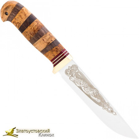 Нож Пустельга. Рукоять: комбинированная, гарда латунь