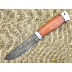 Нож булатный Путный. Рукоять - бук, алюминий