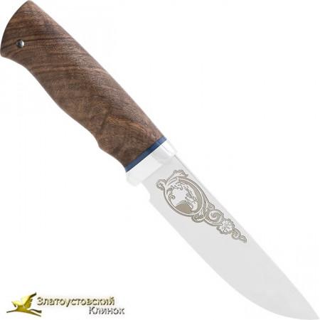 Нож Путный. Рукоять: орех, алюминий