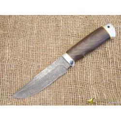 Нож Путный. Рукоять - орех, алюминий. Сталь ZDI-1016