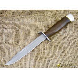 Нож Разведчика. Рукоять - орех, алюминий. Сталь - ZDI-1016