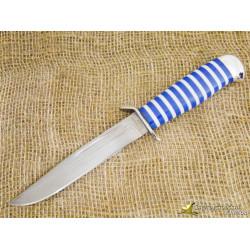 Нож Разведчика. Рукоять - оргстекло, алюминий. Сталь ZDI-1016