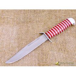 Нож Разведчика. Рукоять - оргстекло, алюминий. Сталь ZDI-1016. Вариант 2