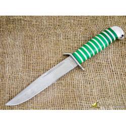 Нож Разведчика. Рукоять - оргстекло, алюминий. Сталь ZDI-1016. Вариант 3