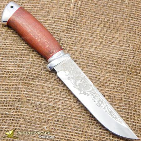 Нож Сайга. Рукоять - бук, алюминий