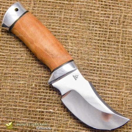 Нож Шкуросъёмник. Рукоять - орех, алюминий