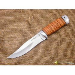 Нож Таёжный-1. Рукоять - береста, алюминий