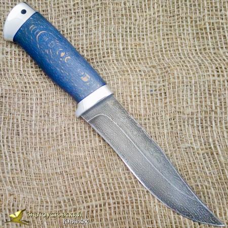 Нож булатный Таёжный-1. Рукоять - бук, алюминий