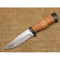 Нож Таёжный малый. Рукоять - береста, текстолит