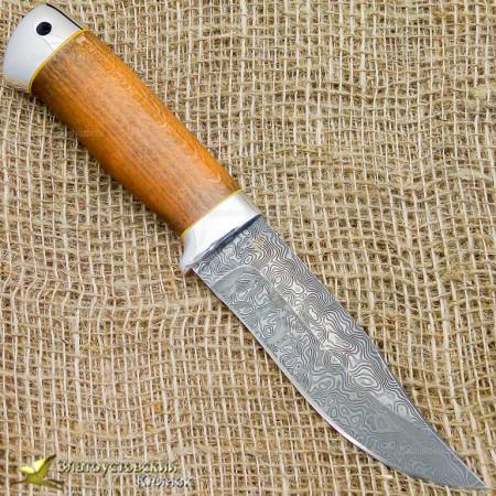Нож Таёжный малый. Рукоять - бук, алюминий. Сталь ZDI-1016