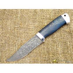 Нож Таёжный малый. Рукоять - карельская берёза, алюминий. Сталь ZDI-1016