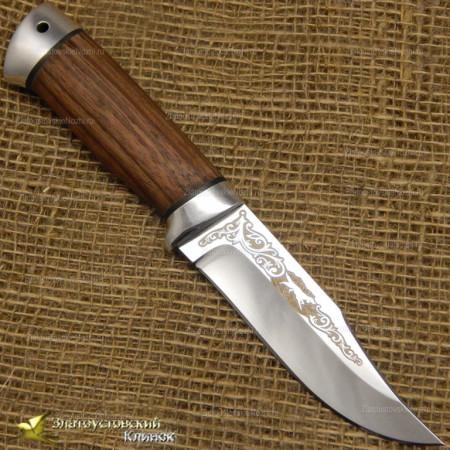 Нож Таёжный малый. Рукоять - орех, алюминий