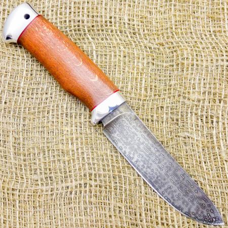 Нож булатный Ворон. Рукоять - бук, алюминий