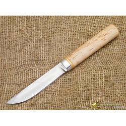 Нож Якут большой. Рукоять - карельская берёза