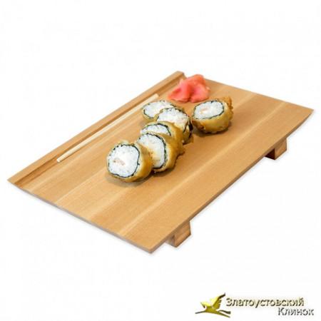 Доска для подачи суши и роллов из дерева ясень
