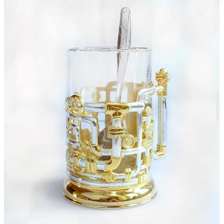 """Подстаканник """"Трубопровод""""  (золото, никель)"""