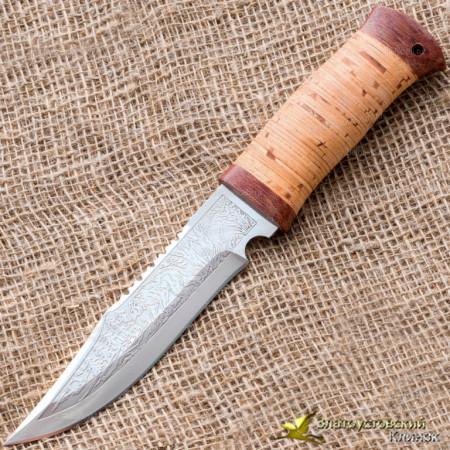 Нож охотничий НС-01. Рукоять - береста, текстолит