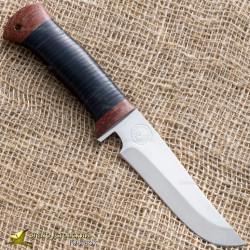 Нож туристический НС-14. Рукоять - кожа, текстолит