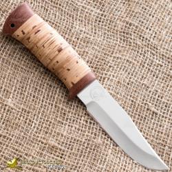 Нож туристический НС-15. Рукоять - береста, текстолит