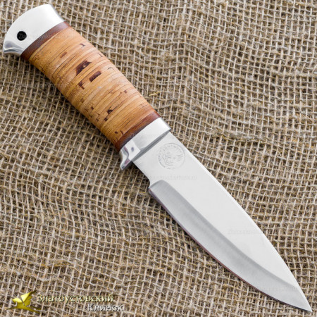 Нож НС-25. Рукоять - береста, алюминий