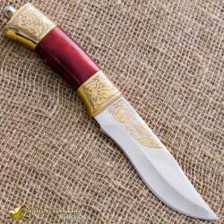 Нож украшенный НС-28. Рукоять - кап, золочение клинка