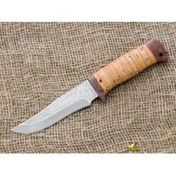 Нож охотничий НС-52. Рукоять - береста, текстолит