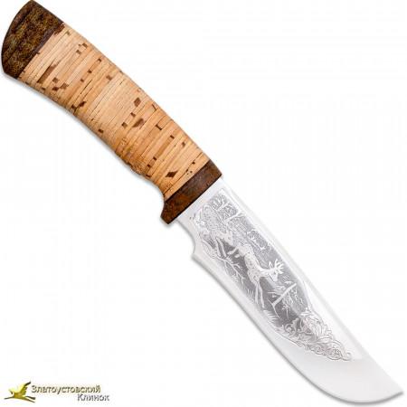 """Нож """"Бивень"""". Рукоять береста, текстолит"""
