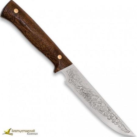 Нож Феникс. Рукоять накладная сапеле