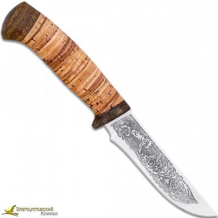 Нож Лиса. Рукоять береста, текстолит