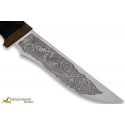 Нож Лиса. Рукоять кожа,текстолит