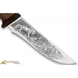 Нож Лиса. Рукоять сапеле,текстолит