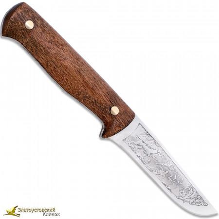 """Нож """"Жерих"""". Рукоять накладная сапеле"""