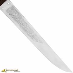 """Нож """"Монгол-1"""". Рукоять кожа, текстолит"""