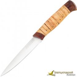 Кухонный нож Империя-5. Рукоять береста, текстолит