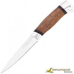 Кухонный нож Империя-4. Рукоять орех, алюминий