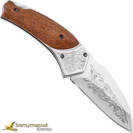Нож складной Питон. Рукоять - орех