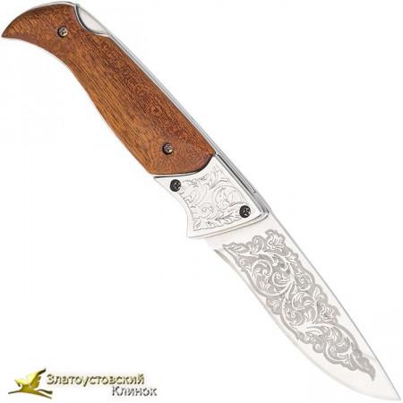 Нож складной Тундра. Рукоять орех