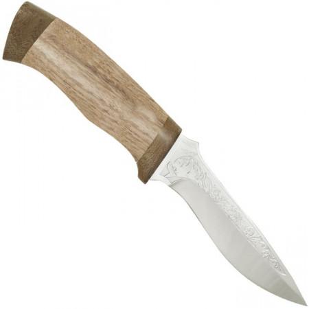 """Нож туристический """"Дельфин"""". Рукоять орех, тыльник и гарда текстолит"""